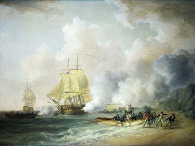 the capture of fort saint louis, martinique