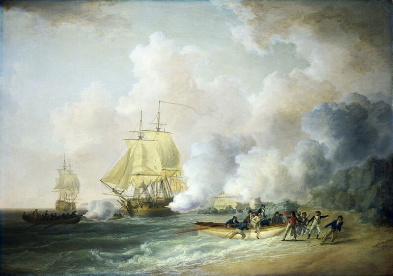 the capture of fort saint louis, martinique