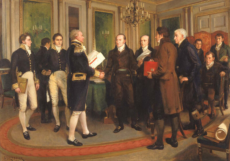 the signing of the treaty of ghent, 1814