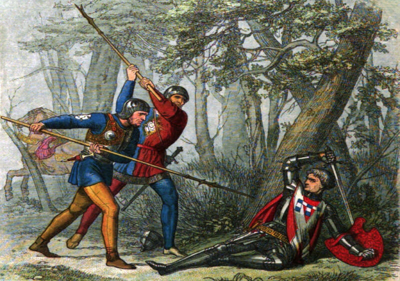 the earl of warwick slain by the yorkists while he was trying to flee the battle of barnet