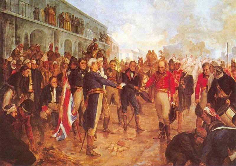 william Beresford surrenders to santiago de liniers