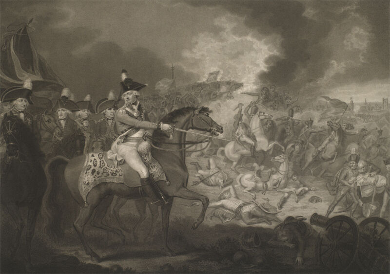 the battle of famars, near valenciennes on the 23rd may 1793