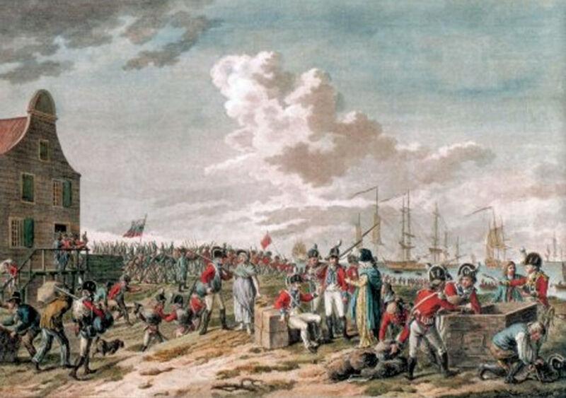 anglo-russian troops departing den helder