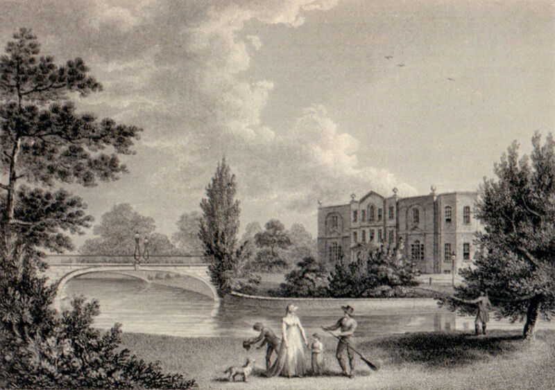 merton place in surrey, the seat of admiral lord nelson, by edward hawke locker