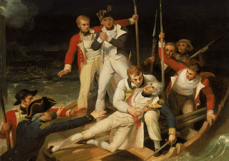 nelson wounded at tenerife, 24th july 1797, by richard westall