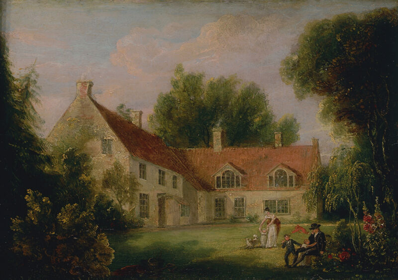 the parsonage house of burnham thorpe in norfolk, by isaac pocock