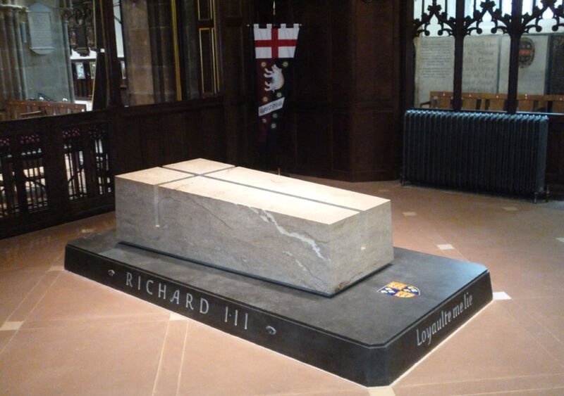 richard III tome at leicester cathedral