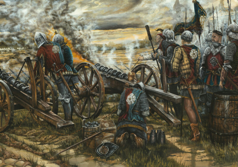 yorkist gunnes at battle of northampton 1460