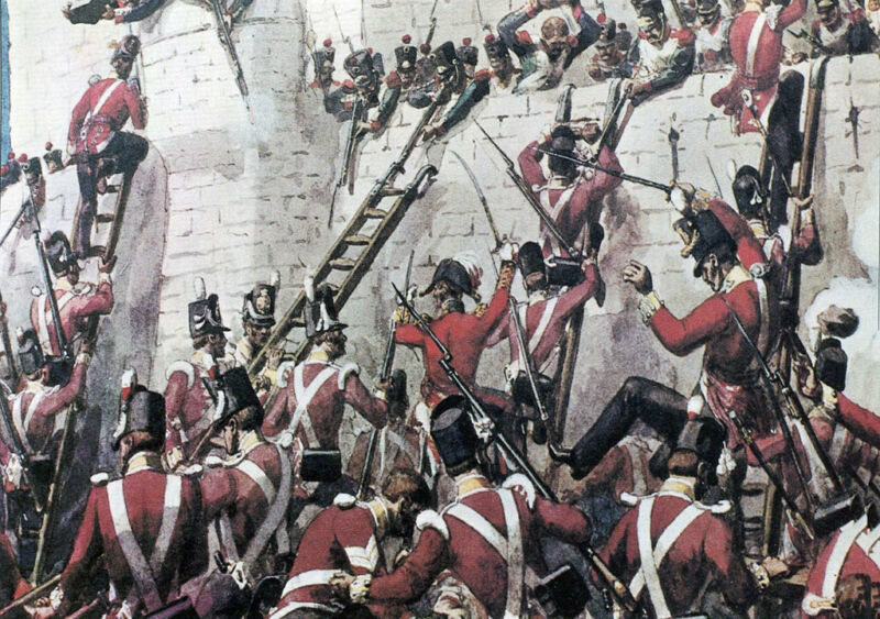 the 30th foot at the storming of badajoz, 1812