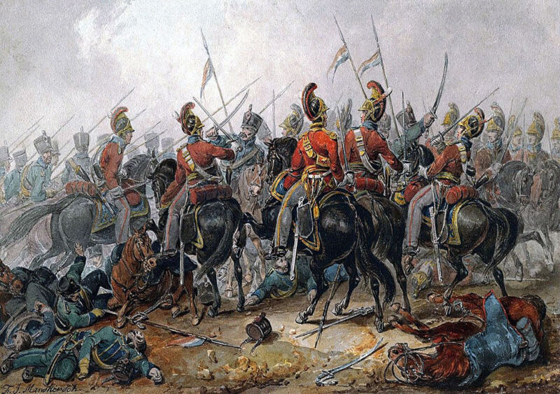 1st life guards at the battle of vitoria, 1813