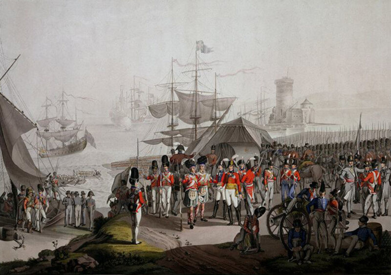 sir arthur wellesley landing at lisbon in 1809