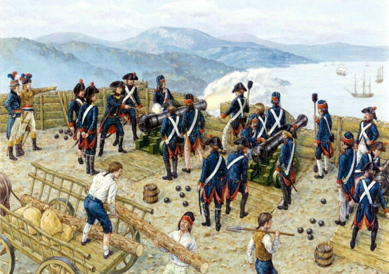 """the battery of """"la montagne"""" at the siege of toulon."""