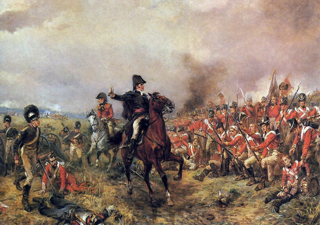 wellington at waterloo 1815
