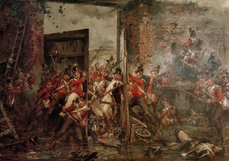 closing the gates at hougoumont, 1815