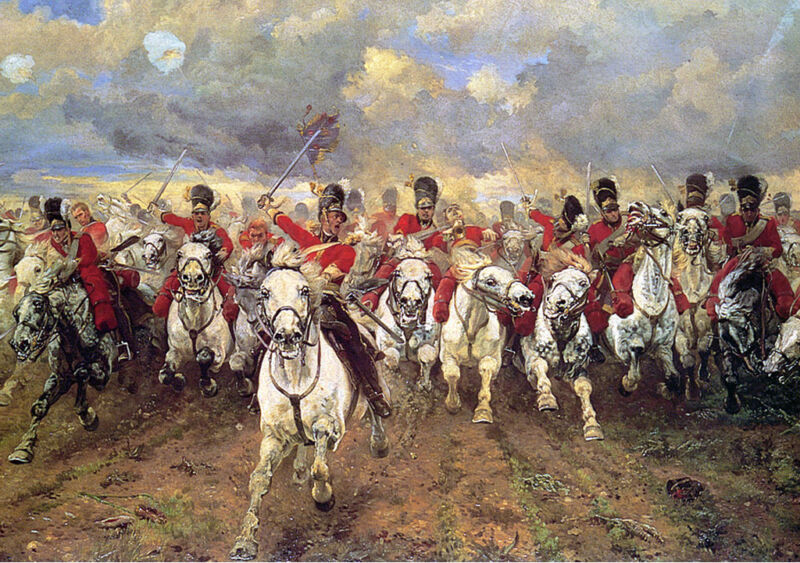 scotland forever!, the charge of the scots greys at waterloo