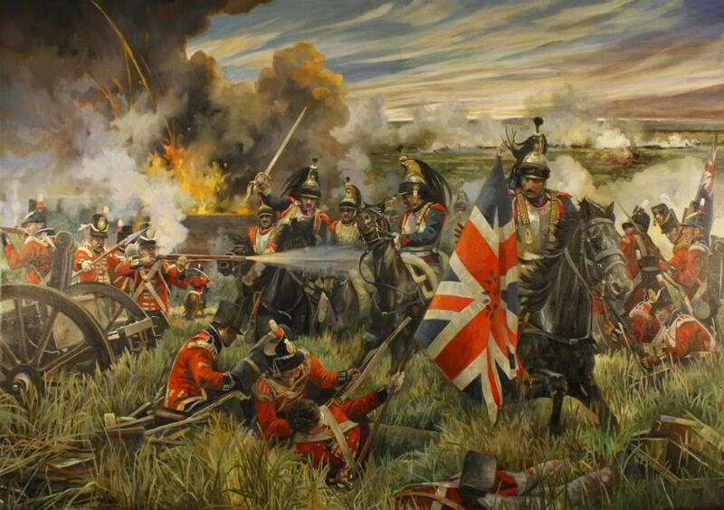 death of colonel ompteda - the kings german legion fighting cuirassier at la haye sainte