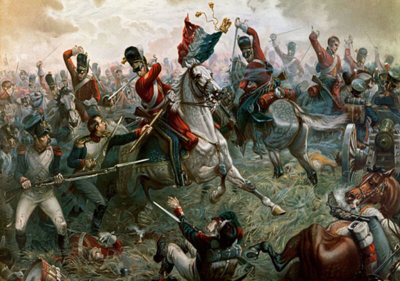sergeant charles ewart of the scots greys captures the imperial eagle of the french 45e régiment de ligne