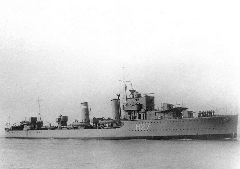 hms electra an e-class destroyer