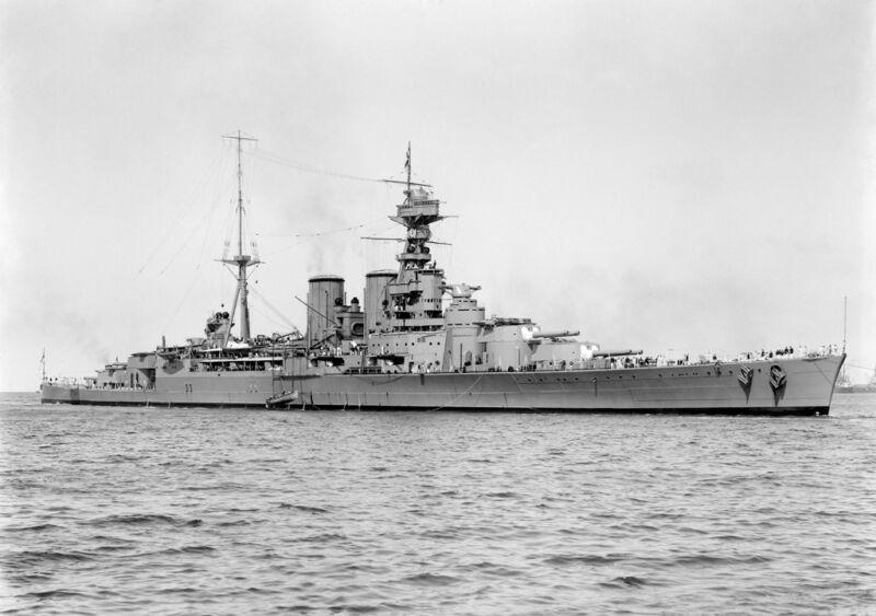 hms hood, sunk at the battle of the denmark strait