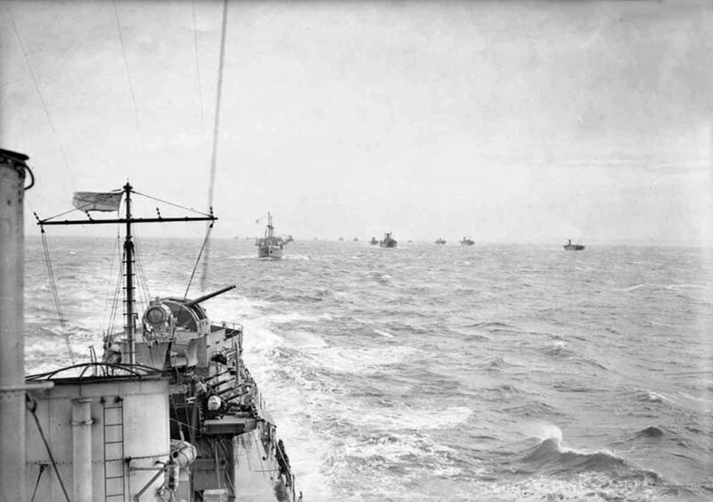 onboard hms vanity escorting a convoy, october 1940