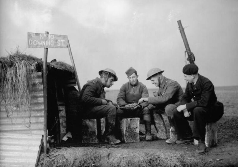 british soldiers waiting during the phoney war, 1939