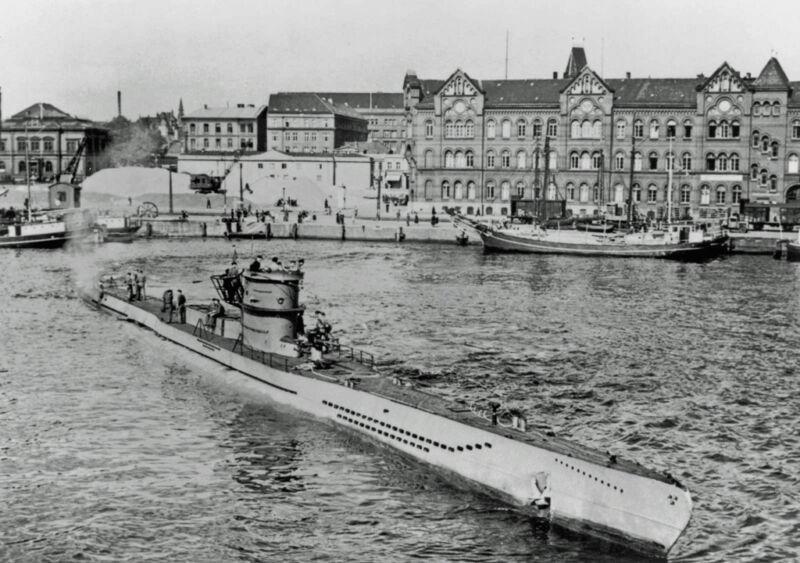 u-boat u-218 at kiel, germany, 1941
